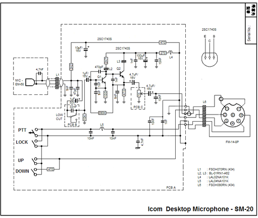 ICOM SM-20 Schematic diagram
